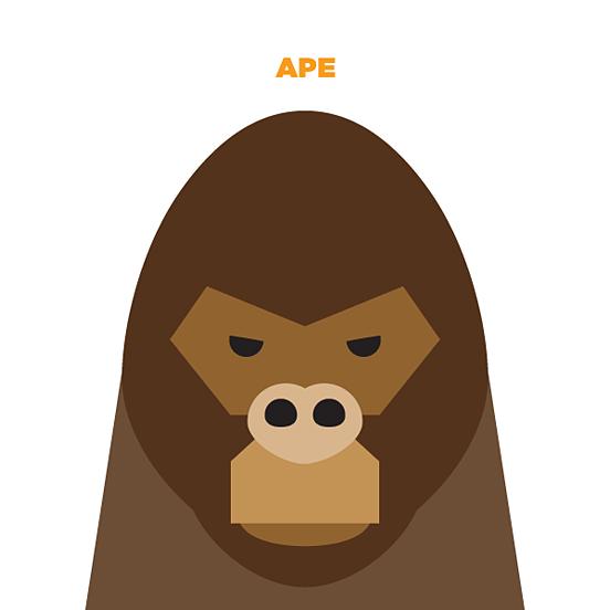 jag nagra简约的动物插画作品