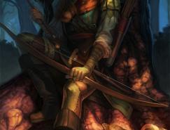 英雄人物插画:罗宾汉(Robin
