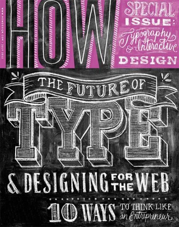 国外杂志封面中漂亮的字体设计