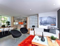 明晰的功能分区:清新公寓设计欣赏