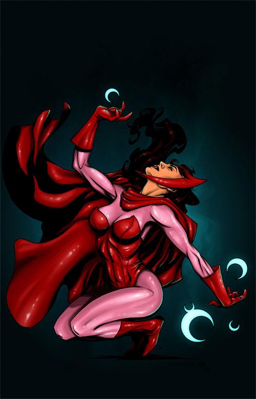 Marvel漫画漫画:红女巫(ScarletWitch)(4)gl人物病娇图片