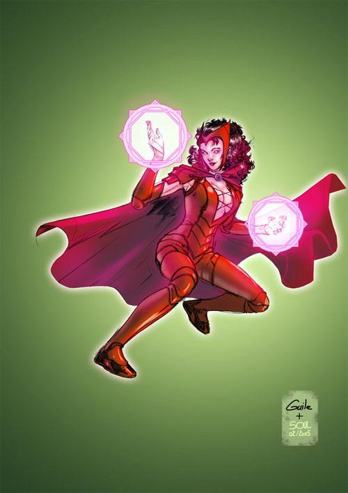 Marvel人物女巫:红同人(ScarletWitch)(4)漫画漫画比迪丽图片