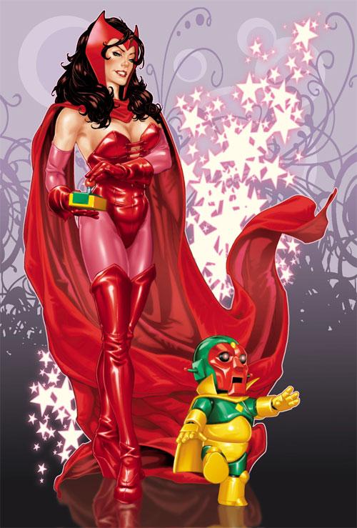 marvel漫画人物: 红女巫(scarlet witch)