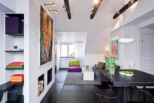 斯德哥尔摩54平米精致布局的小公寓设计