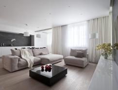 莫斯科130平米现代优雅的公寓设计