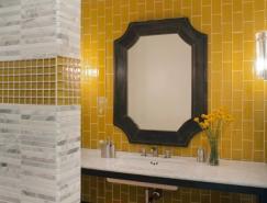 黄色系浴室装修设计欣赏