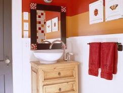 橙色系浴室装修设计欣赏