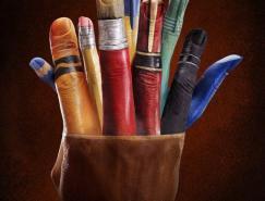 艺术家RayMassey手部彩绘艺术欣赏