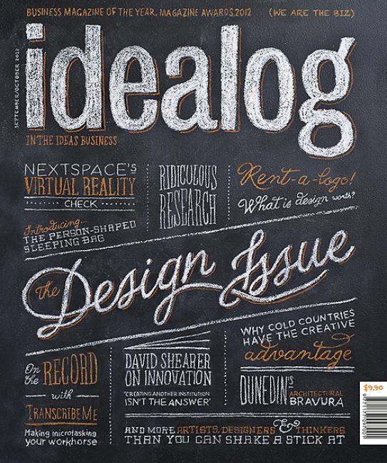 漂亮的字体设计:国外杂志封面欣赏