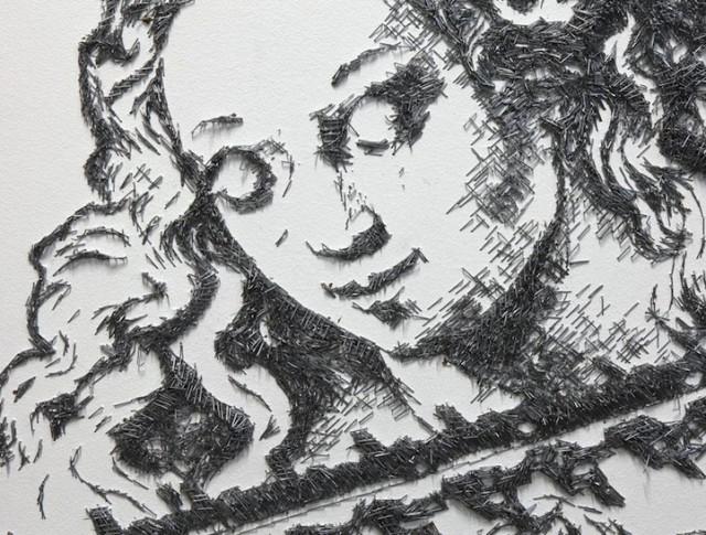 BaptisteDebombourg:订书针创作的完美画作