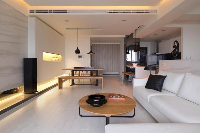 极简时尚的开放式住宅空间设计