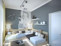 一个房间的两种不同的装饰风