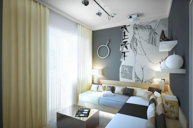 一个房间的两种不同的装饰风格