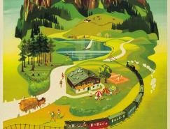 奥地利旅游老式海报欣赏