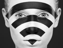 AlexanderKhokhlov创意黑白脸谱人像