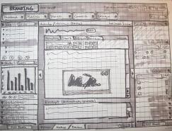 40个网页设计草图和线框图