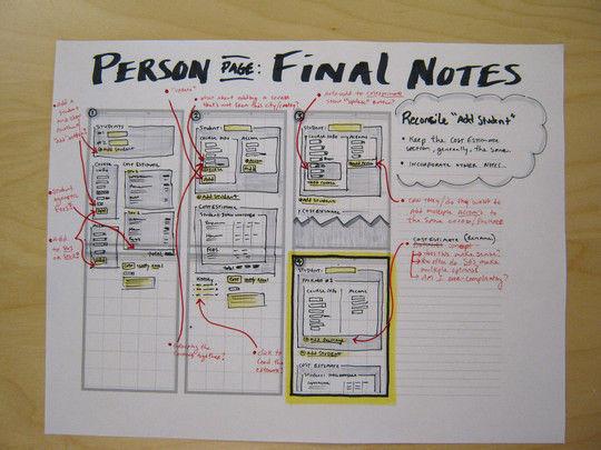 40个网页设计草图和线框图图片