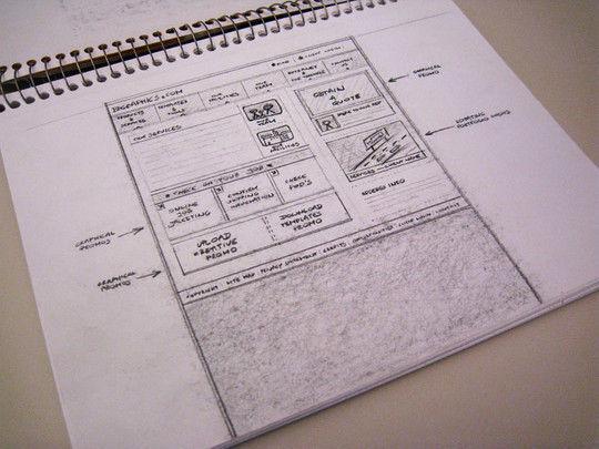 40个网页设计草图和线框图(3)图片