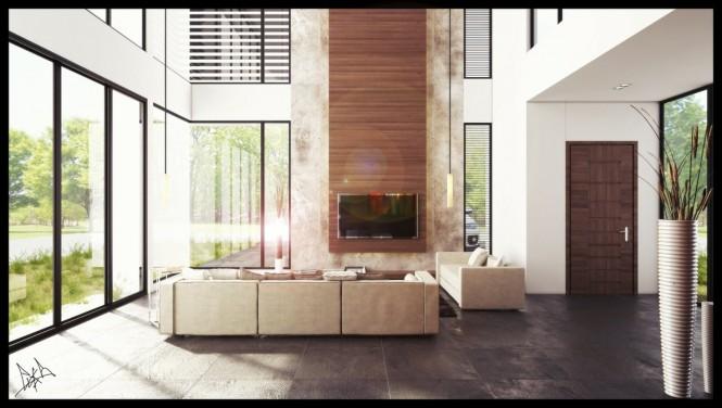 挑高天花板的室内装修设计(2)