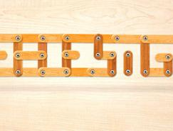 Photoshop快速制作创意的木块字