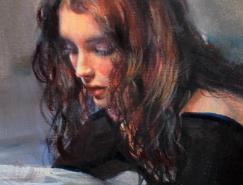 EmiliiWilk女性肖像绘画作品