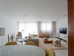 巴西Curitiba优雅的现代白色公�K寓