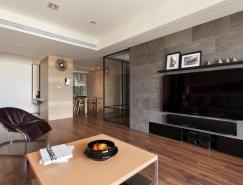 可伸缩的玻璃门:开放式空间的公寓设
