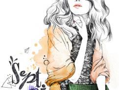 法国Lutheen时尚人物插画