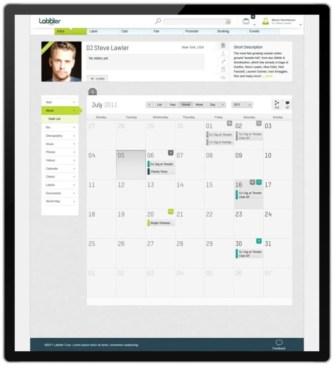 labbler音乐社区网站界面设计(2)图片