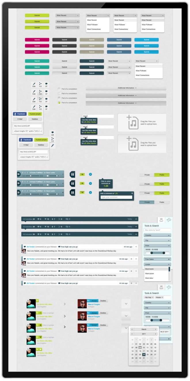 labbler音乐社区网站界面设计(3)