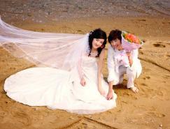 利用通道及抽出滤镜抠出飘逸的半透明婚纱