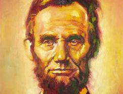 人物肖像插画:美国总统亚伯拉罕·林肯(Abraham