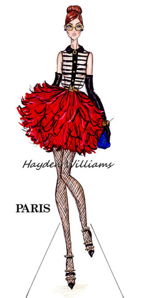 HaydenWilliams时装插画设计