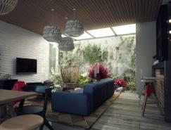 拥有小庭院的现代都市住宅设计