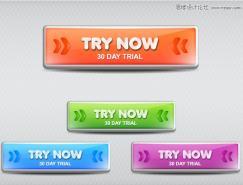 Illustrator使用3D效果制作质感的网页按钮