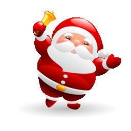 圣诞老人摇铃铛