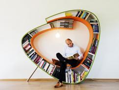创意多功能的Bookworm书架