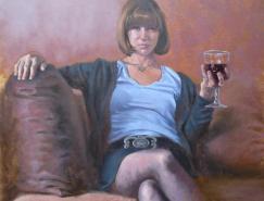法国艺术家LaurentBotella写实人物绘画作品
