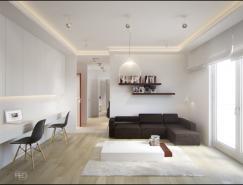 波兰PressenterDesign:40平米小公寓效果图w88手机官网平台首页