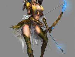 神话人物插画欣赏:弓箭手