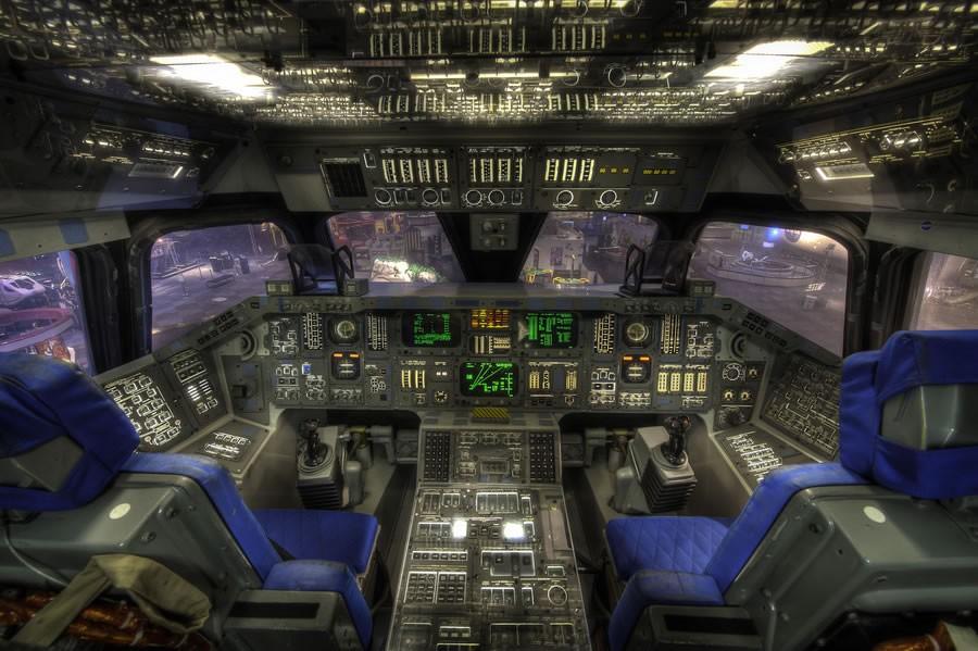 飞机驾驶舱摄影图片欣赏