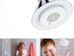 洗澡听歌两不误:科勒Moxie蓝牙音箱喷淋头