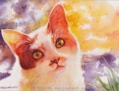 德國水彩畫家CharleneWienhold:可愛的貓