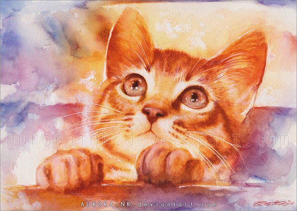 Cute Cat Painting