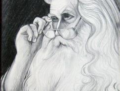 AnneE.Shoemaker-Magdaleno:魔法师铅笔肖像画