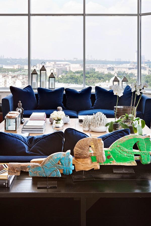 俯瞰莫斯科:顶层复式公寓设计