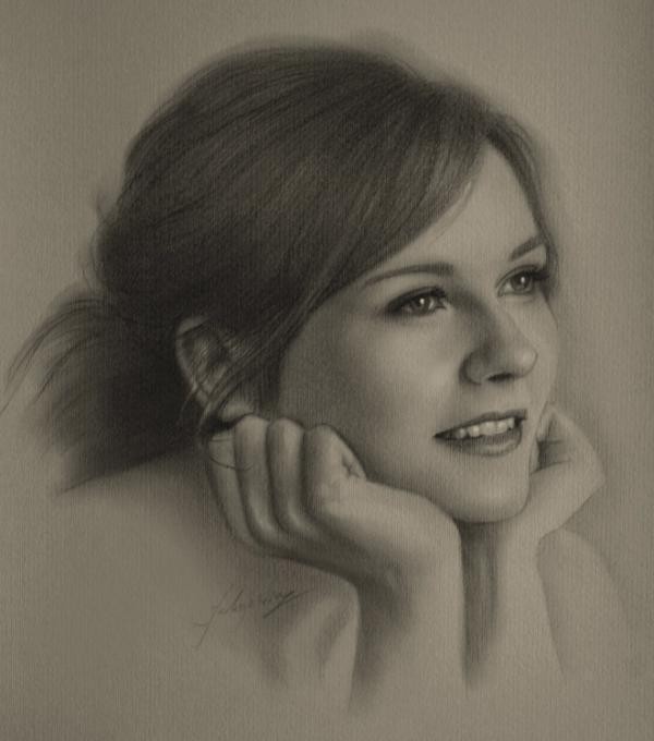 30张逼真的人物肖像素描画(2)