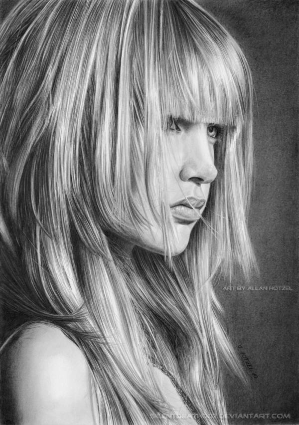 30张逼真的人物肖像素描画(3)