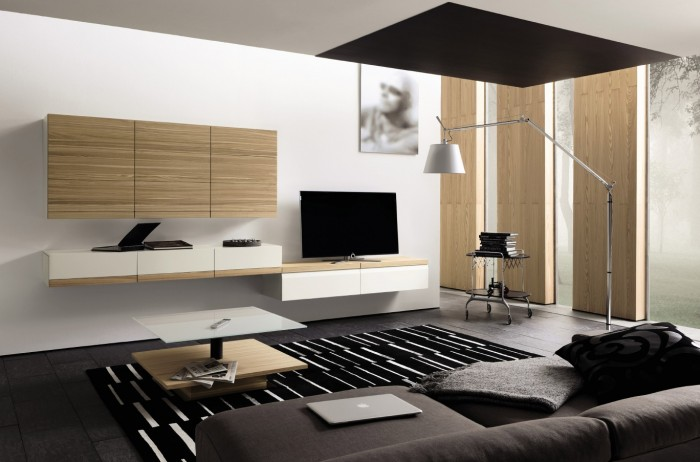 木制组合单元电视背景墙设计(2)