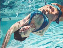 SamanthaFrench油画澳门金沙网址:水中畅游